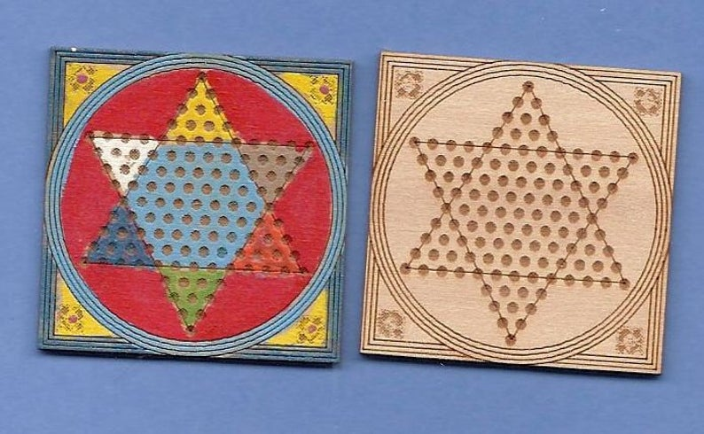 1:12 Dollhouse Miniature Chinese Checkers Kit DI TY107