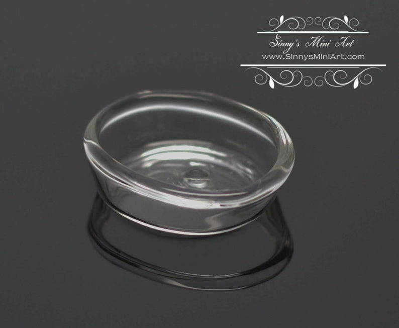 1:12 Dollhouse Miniature Glass Baking Pan Casserole Dish BD HB071