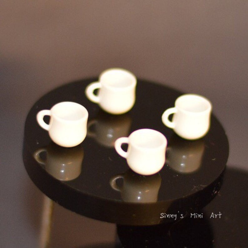 1:12 dollhouse Miniature Coffee Tea Cup Set of Four B5
