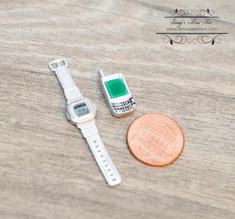 1:6 Doll Miniature Watch and Speaker/ Miniature Cosplay/ Doll Watch C21