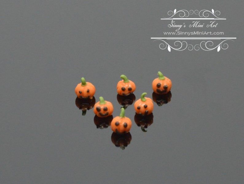 1:144 Dollhouse Miniatures Tiny Jack O Lanterns  BD MF019
