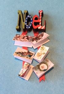 KIT 1:12 Dollhouse Miniature Noel Card Holder Kit DI DF231