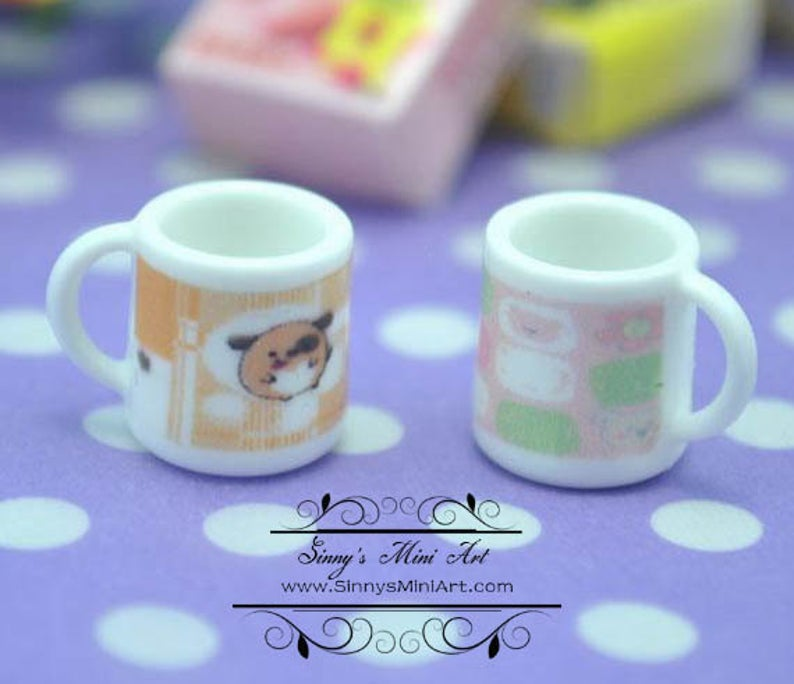 1:12 Dollhouse Miniature Mug A4-1