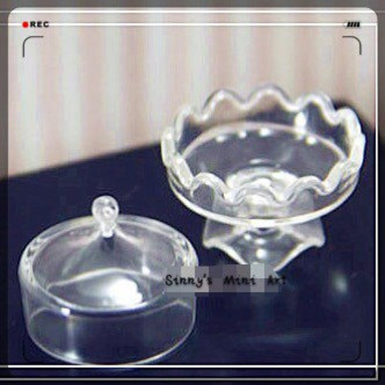 1:12 Miniature Cake Stand with Domed Cover B11