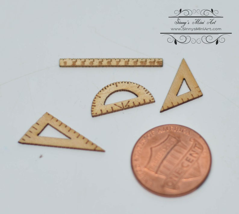 1:12 Dollhouse Miniature Drawing Ruler Set SMA FS005