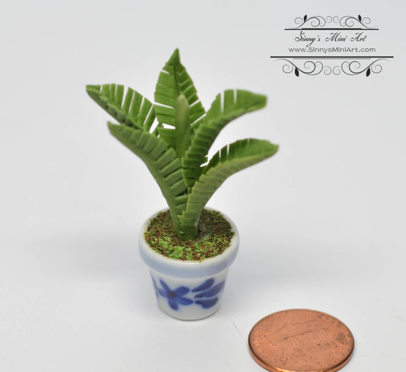 1:12 Dollhouse Miniature Potted Palm / Miniature Garden BD A048