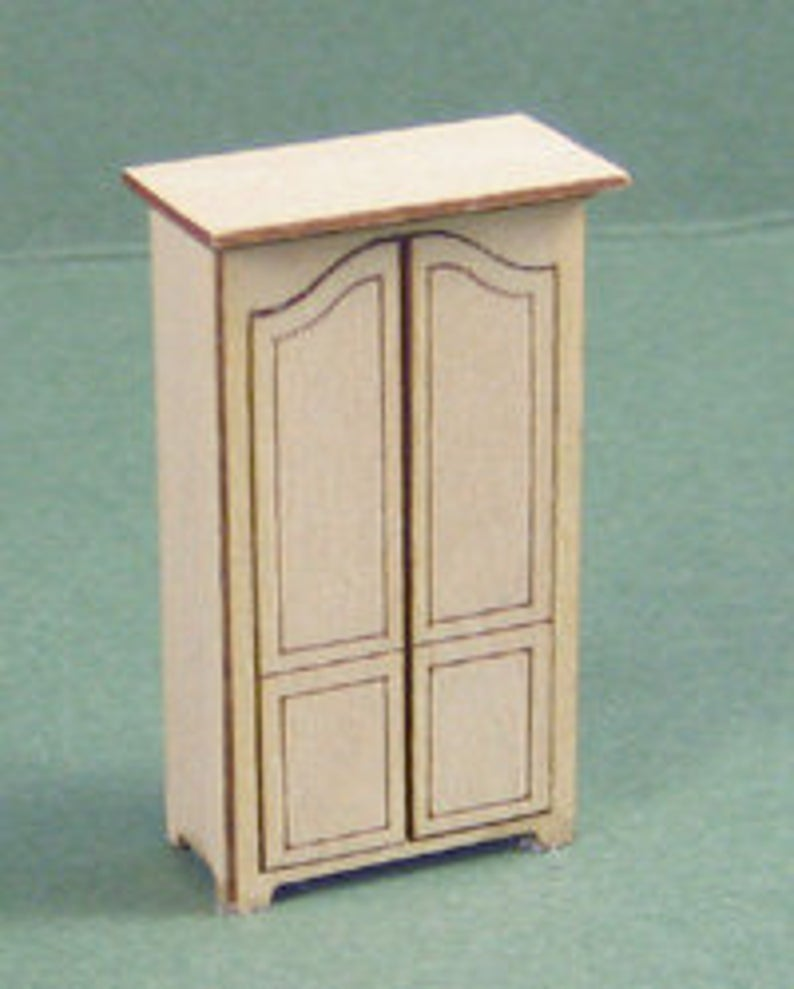 1:48 Dollhouse Miniature Armoire Kit Kit/ Quarter Inch Scale Furniture KBM Q312