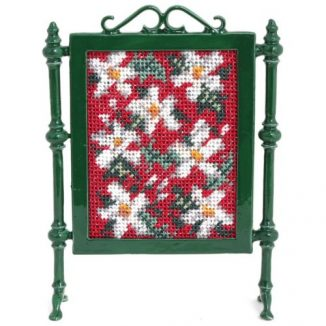 1:12 Dollhouse Miniature Winter Needlepoint Firescreen Kit JGD 1019