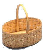 1 :12 Dollhouse Miniature Oval Basket Kit - Kit DIY