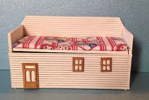 1:12 Dollhouse Miniature Girl's Bedroom Toy Box Kit DI FS437