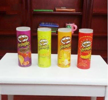 1:6 Dollhouse Miniature Potato ChipS Can Snack Set of Four A79