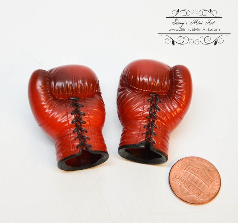 1:6 Dollhouse Miniature Boxing Gloves/ Miniature Boxing Cosplay C11