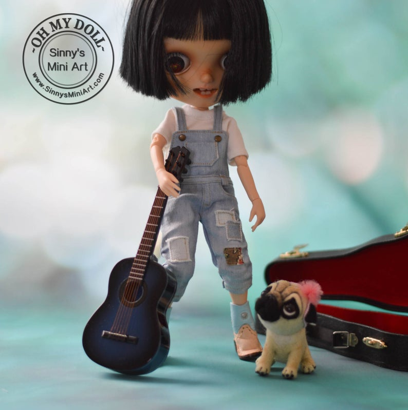 1:6 Miniature Guitar for Blythe/ Doll Guitar/ Pullip/ Azone/ Licca OMD C30