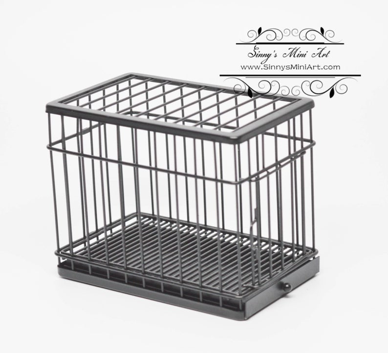 1:12 Dollhouse Miniature Large Dog Cage/ Miniature Animals AZ EIWF306