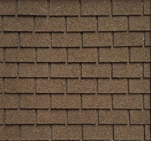 1:12 Dollhouse Miniature Shingles, Brown Square Dollhouse Roof AM 4004SQ