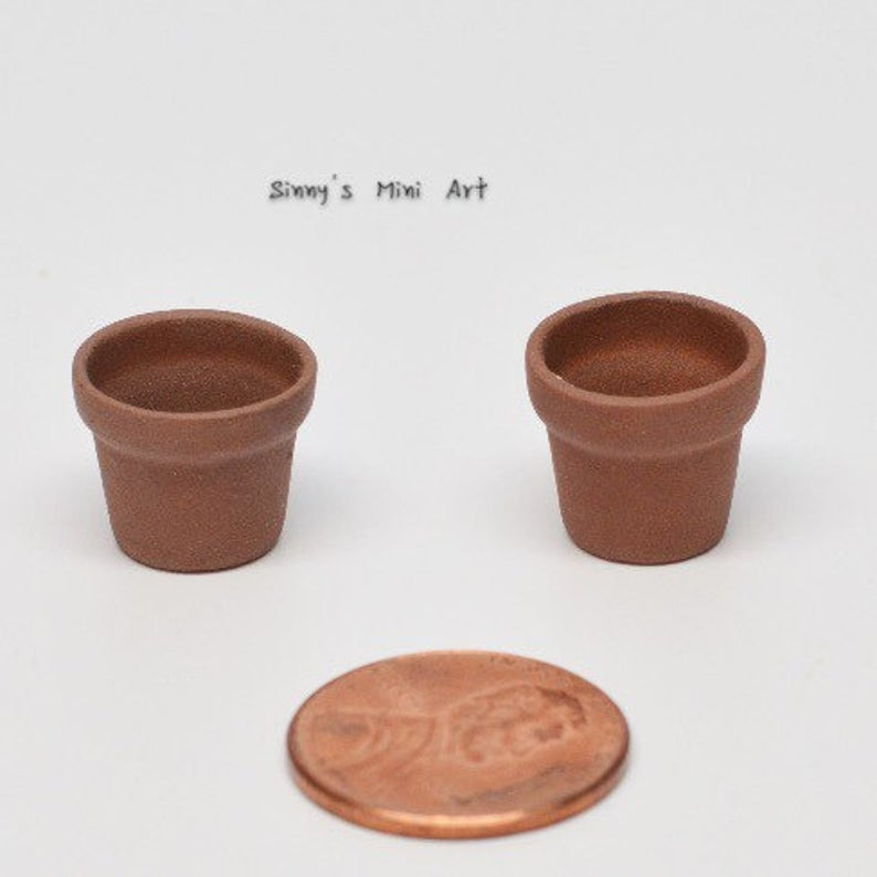 1:12 Dollhouse Miniature Terra Cotta Pot BD B038