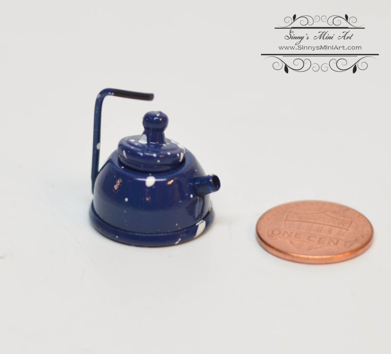1:12 Dollhouse Miniature Copper Teapot AZ D0860