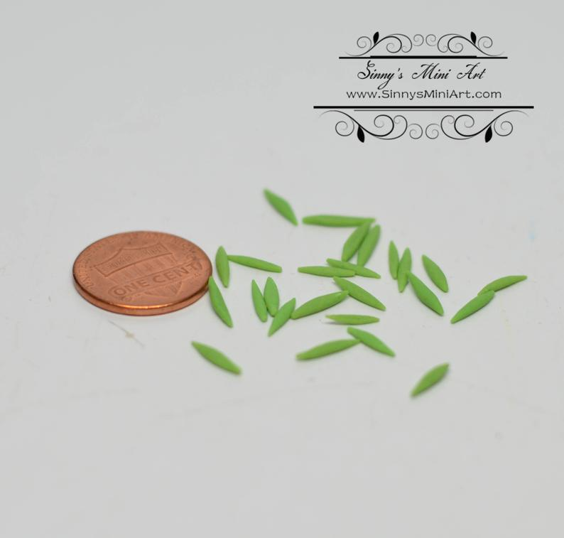 1:12 Dollhouse Miniature Sugar Snap Peas, set of 25 pieces / Miniature food BD P036