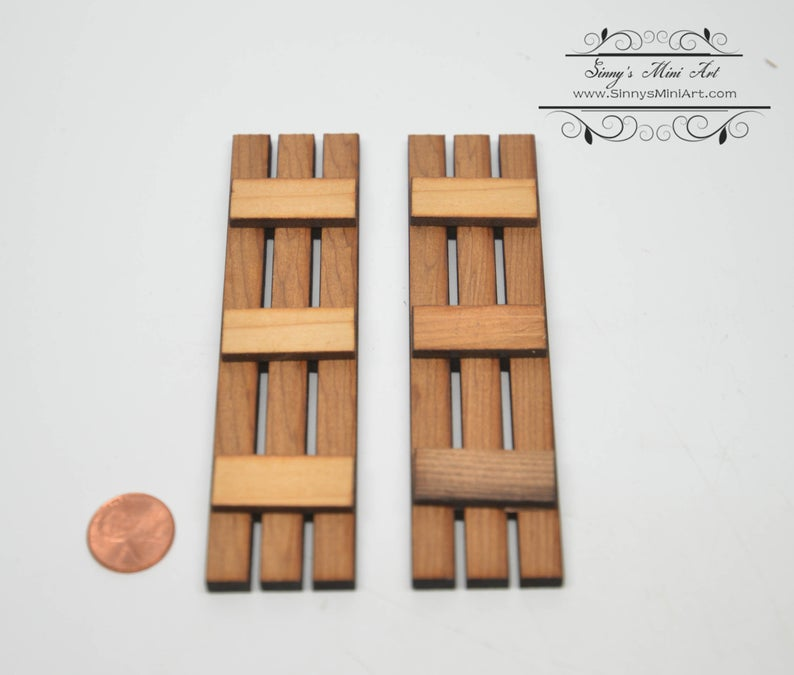 1:12 Dollhouse Miniature Slat AM 2006