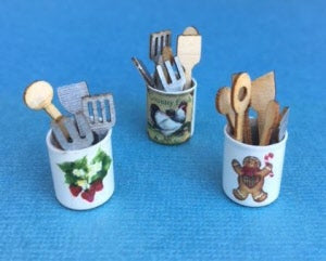 Kit 1:12 Dollhouse Miniature Utensil Canister DI DF138