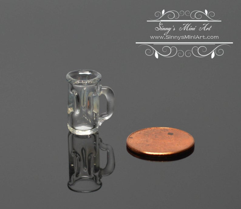 1:12 Dollhouse Miniature Glass Stein BD HB052