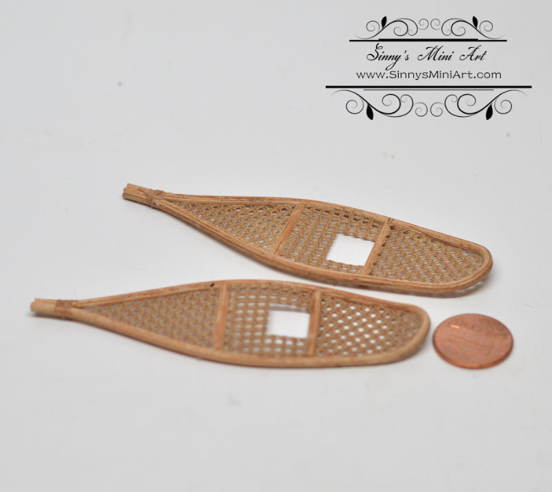 1:12 Dollhouse Miniature Snowshoes / Snow Shoes ATTH G-14