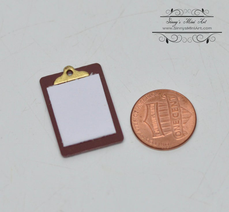 1:12 Dollhouse Miniature Writing Board/ Miniature Office Supply C102