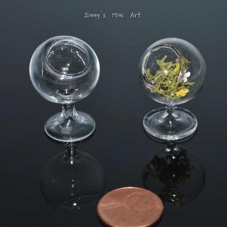Discontinued 1:12 Miniature Glass Terrarium on Stand BD HB136