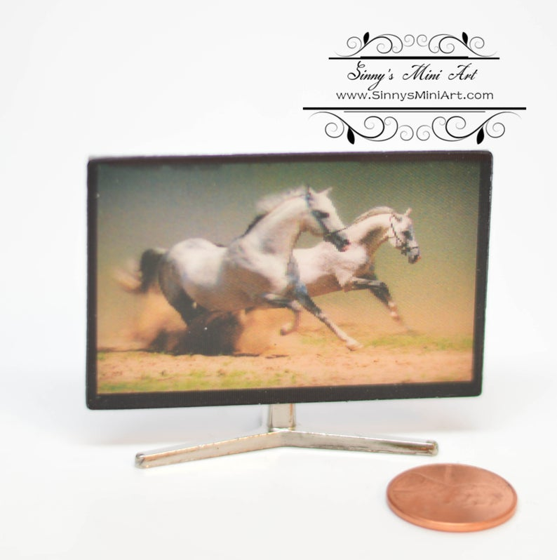 1:12 Dollhouse Miniature Flat-screen TV AZ G7522