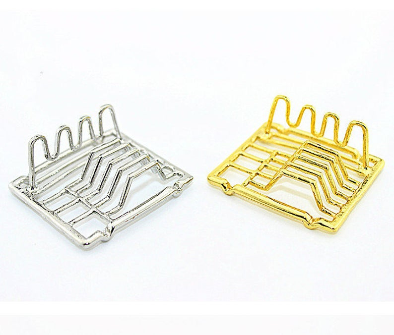 1:12 Dollhouse Miniature Dish Drying Rack D128