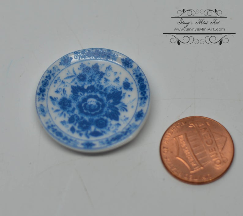 1:12 Dollhouse Miniature Ceramic Plate/Miniature Plates A44
