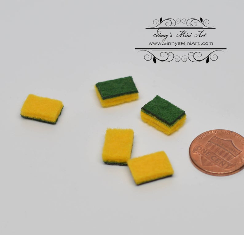 1:12 Hand Made Dollhouse Miniature Scotch Bright/Set of Five B212