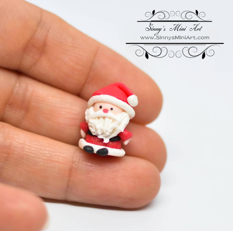 1:12 Dollhouse Miniature Christmas Santa Figure BD MF004