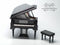 1:12 Dollhouse Miniature Black Piano Miniature Instrument E36-A