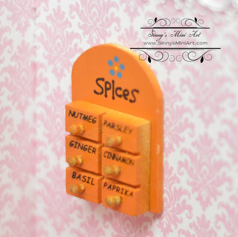 1:12 Dollhouse Miniature Spice Rack AZ IM65293
