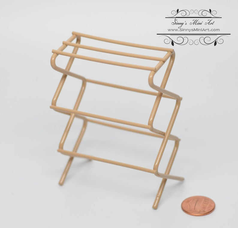 1:12 Miniature Clothes Drying Rack/ Miniature Rack/Miniature Furniture AZ IM65578