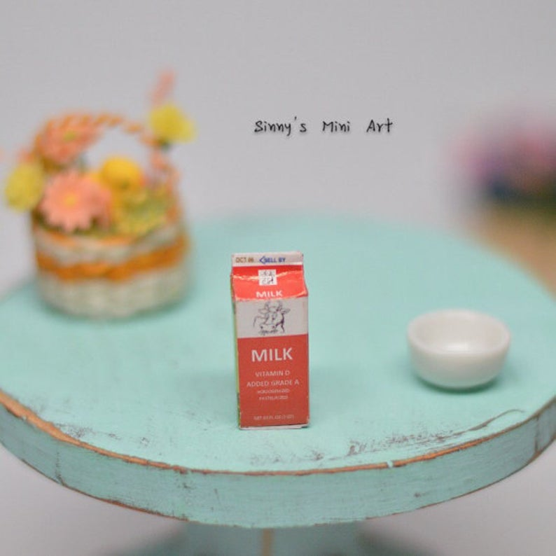 1:12 Dollhouse Miniature Boxed Milk/ Miniature Milk BD F343