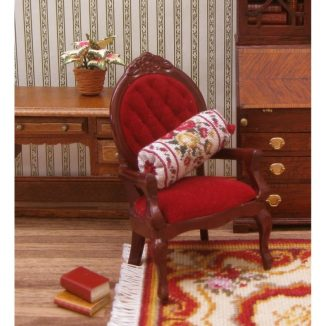 Dollhouse Needlepoint Bolster Cushion Summer Roses Kit JGD 2407