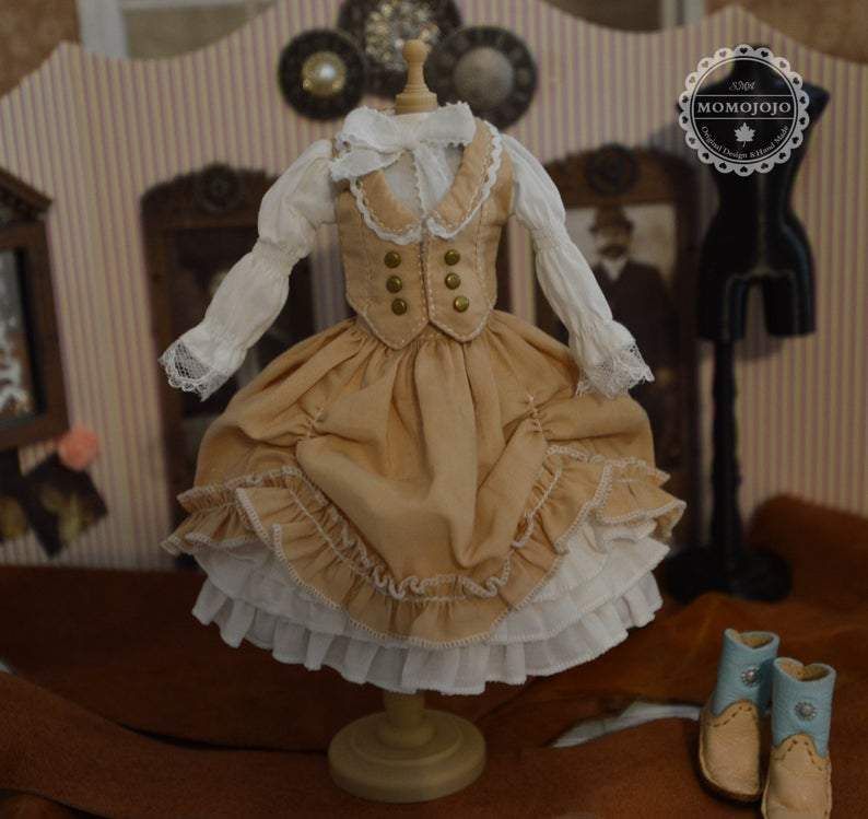 Victoria Dress Western Outfit for Blythe MJ A95