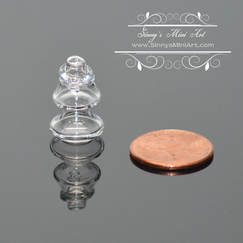 1:12 Dollhouse Miniature Glass Christmas Tree Jar BD HB458