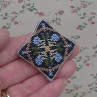 1:12 May (blue) Dollhouse Needlepoint Needlepoint Cushion Kit JGD 5019