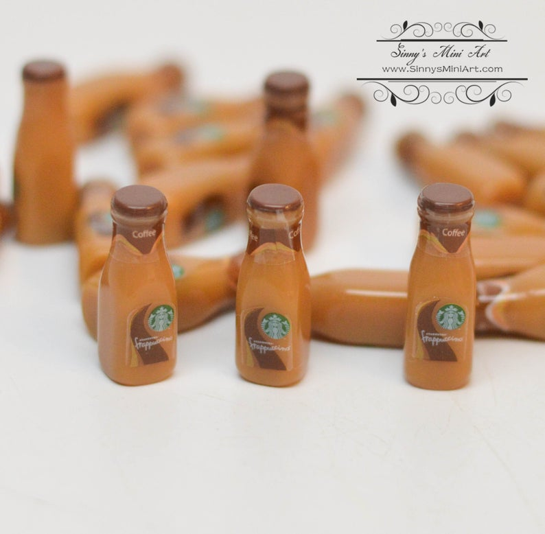 1:6 Dollhouse Miniature Starbucks Mocha Coffee/ Doll Miniature Coffee C55-C