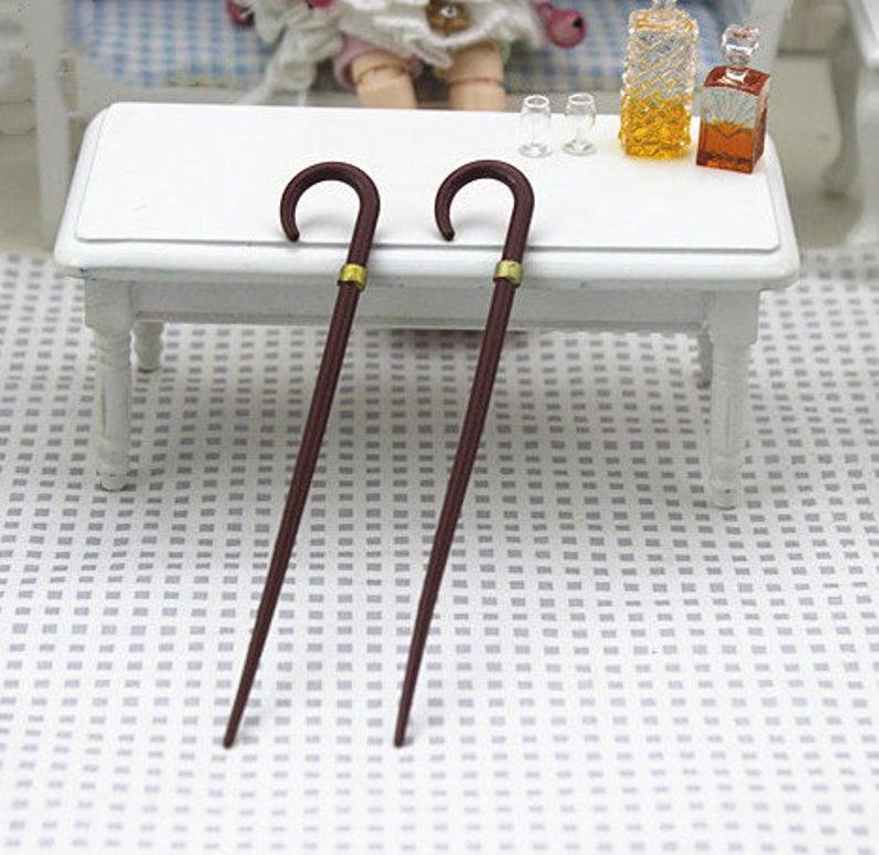 1:12 Dollhouse Miniature Walking Stick Dollhouse Miniature C109