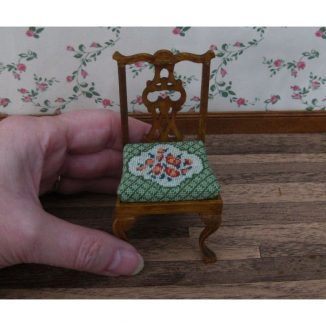 1:12 Pack of 2 Barbara (green) Dollhouse Needlepoint Dining Chair Kit JGD 1214/1215/1216