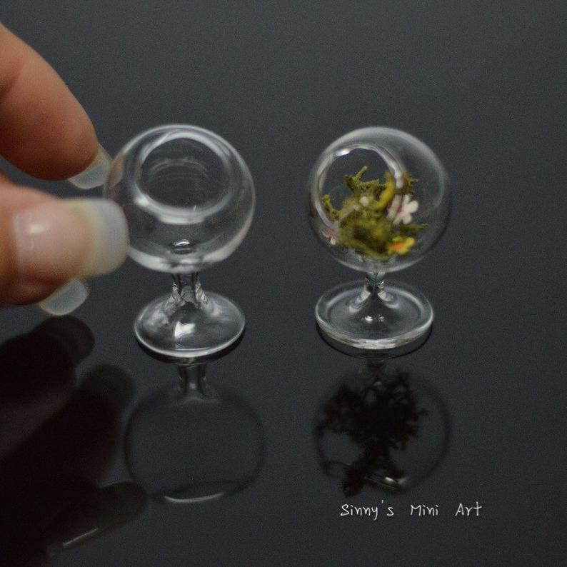 1:12 Miniature Glass Terrarium on Stand HMN HB136