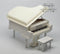 1:12 Dollhouse Miniature White Piano Miniature Instrument E36-B