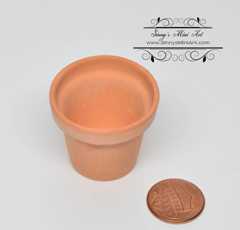Dollhouse Miniature Large Clay Pot/ Miniature Garden BD B908