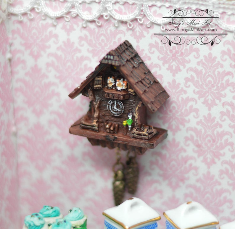 1:12 Dollhouse Miniature Cuckoo Clock/ Miniature Clock RP 1.399/5
