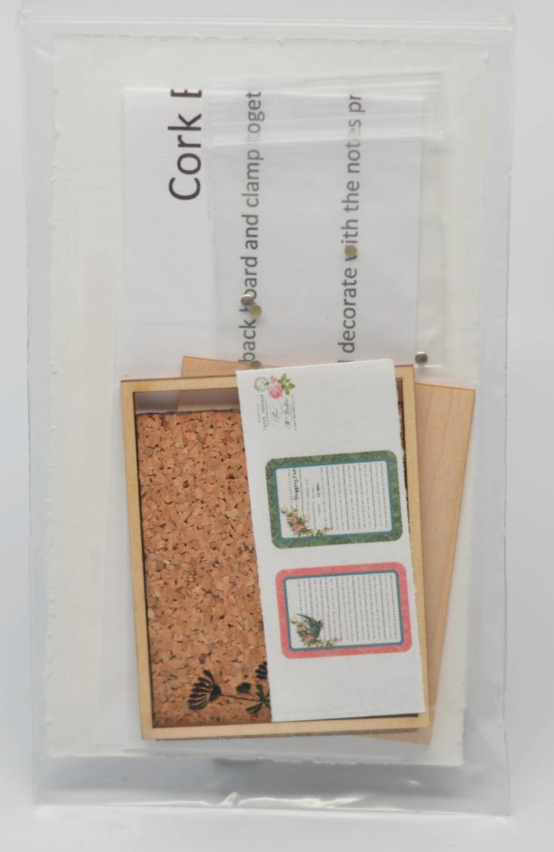1:12 Dollhouse Miniature Cork Board Kit /Mini Office DIY DI DF174