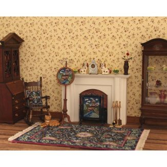 1:12 Dollhouse Miniature Riverside Cottages Needlepoint Pole Screen Kit JGD 2907